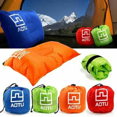 Automatic Inflatable Pillow Travel Air Cushion Portable Camping Outdoor Neck