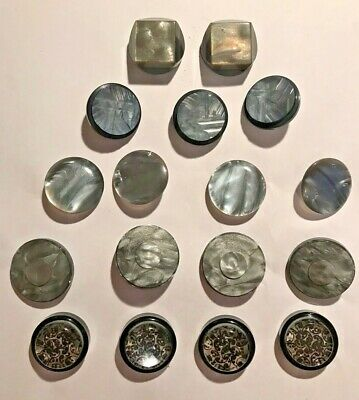 Mixed lot of grey very pretty Vintage buttons - lovely!