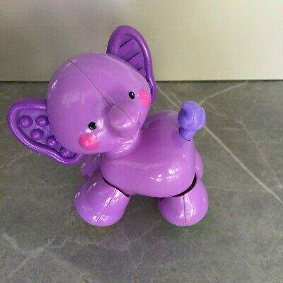 Fisher Price Amazing Animals Part of Ark Boat Purple Baby Elephant Only