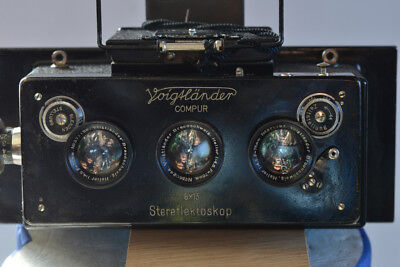 Beautiful Voigtländer stereoflektoscope  6X13  with Heliar lenses