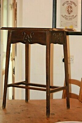 Antique Victorian Arts and Crafts Movement Oak Side Table