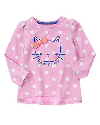c9882ef09 Gymboree HELLO HAPPY purrfect day polka dot cat long sleeve tee 12-18 month  NWT
