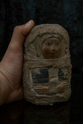 ANCIENT EGYPTIAN STATUE ANTIQUES Ushabti God SHABTI MUMMY EGYPT Carved Stone BC