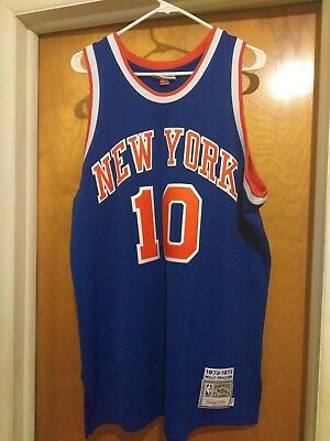 newest f0199 bfea2 AUTHENTIC MITCHELL AND Ness Walt Clyde Frazier New York ...