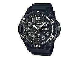 Casio Men's Diver Style Quartz Resin Casual Watch Color Black MRW-210H-1AVCF