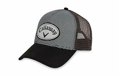 7fd593b1fa531 New Callaway CG Trucker Stripe Charcoal Black Adjustable Snapback Hat Cap