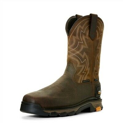 ab77124cfd3 MENS ARIAT INTREPID Pull On H2O Composite Toe Leather Work Boots 10 ...
