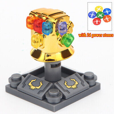Infinity Gauntlet Chrome Golden Thanos Building Blocks Toys [With 24 Gems]