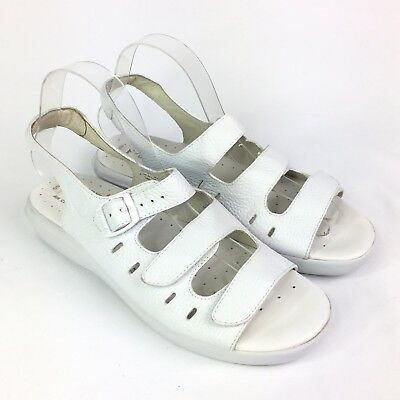 60312aa16b82 Propet Breeze Walker Comfort Shoes White Leather Strappy Sandals W0001 Women  9 M