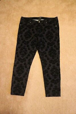 Mossimo Stretch Extensible Women's Pants Floral Black Size 14