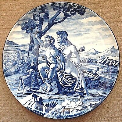 Tuscan Pottery-Orlando Furioso,Angela e medoro.Made/painted by hand in ITALY