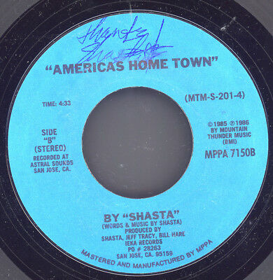 SHASTA rare 1986 signed PRIVATE PRESS SINGER SONGWRITER AMERICANA 45 - BOB DYLAN