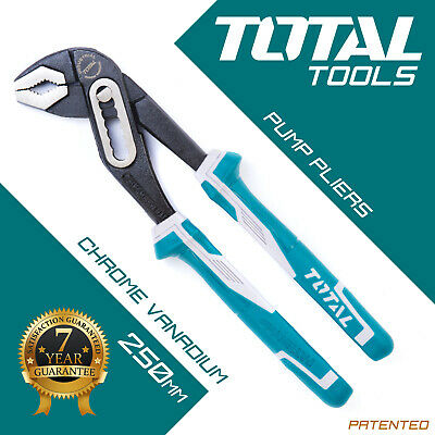 Water Pump Pliers, Steel Slim Jaw and Wrench Grips - Total Tools