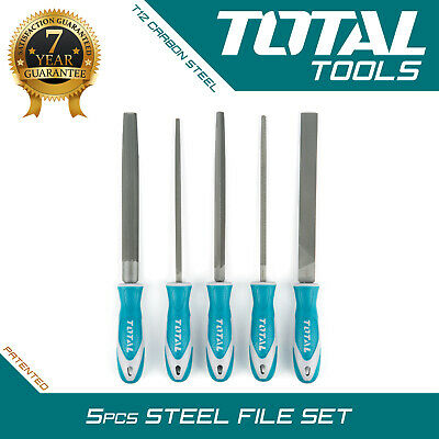 "METAL FILES SET 5PCS 8"" Professional Engineers Carbon Steel Hand - Total Tools"