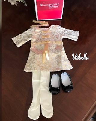 """American Girl Melody CHRISTMAS OUTFIT for 18"""" Dolls Holiday Clothes Dress NEW"""