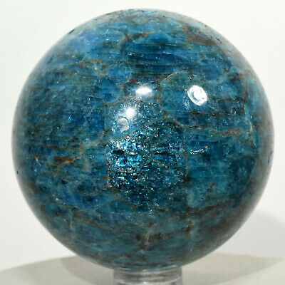 59mm Blue Apatite Sphere Natural Sparkling Mineral Ball Crystal Stone Madagascar