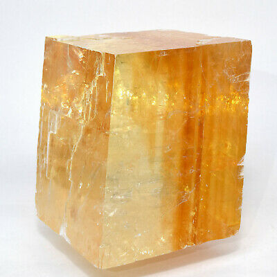 "4.5"" Orange Optical Calcite Crystal Natural Iceland Spar Mineral Stone - China"