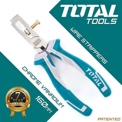 Total Tools - Wire Strippers Plier Heavy Duty Hand Held Electrician Cable Cutter