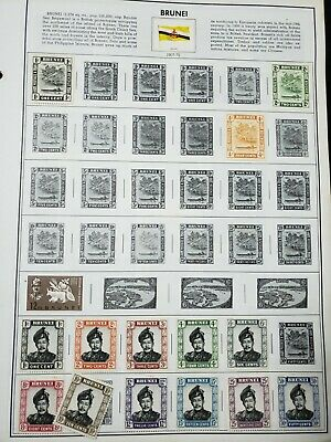 WOW! 1 Pages Brunei Postage Stamps OLD 469
