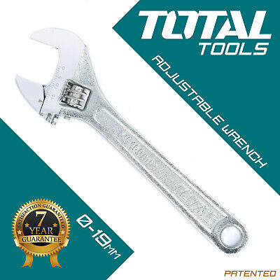 ADJUSTABLE WRENCH SPANNER 150mm & 19mm Wide Jaw Drop Forged Steel - Total Tools