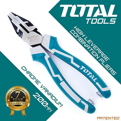 COMBINATION PLIERS High Hand Leverage, Heavy Duty, Side Cutters - Total Tools