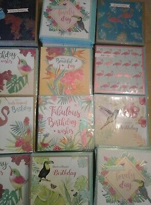50 Tropical Cards, Wholesale Joblot Greeting Cards