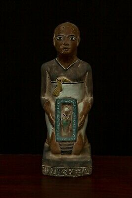 EGYPTIAN ART ANTIQUES STATUE Ptah God EGYPT Hand Carved-STONE 1550-1070, #BC
