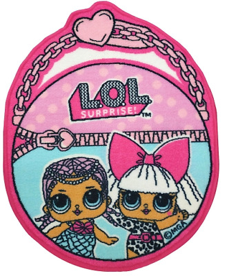Lol Surprise Non Slip Round Bedroom Rug Mat Pink Blue Hearts Play Room Diva New