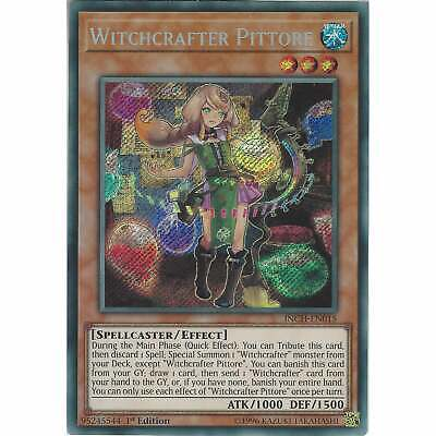 Yu-Gi-Oh! TCG: Witchcrafter Pittore - INCH-EN015 - Secret Rare Card 1st Edition