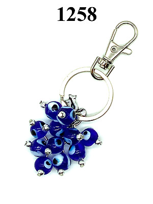 Turkish Evil Eye Charm Key Chain for Protection and Good Luck #1259