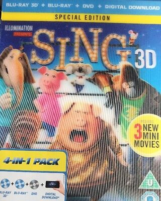 Sing [Blu-ray 3D] [2017], Scarlett Johansson, Reese Witherspoon, New Sealed