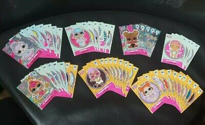 50 Lol surprise Panini trading Cards No Duplicates inc Shinys numbers are listed