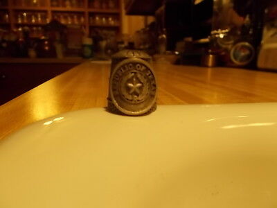 Republic of Texas Pewter Thimble with the Seal of TEAXAS