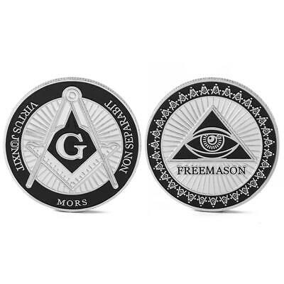SILVER PLATED MASONIC Freemason Token Collectible Physical