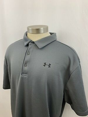 414b28fb1 Mens Under Armour Loose Fit Casual Polo Golf Shirt Size 2XL GRAY XXL