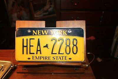 2010 New York Empire State License Plate HEA 2288