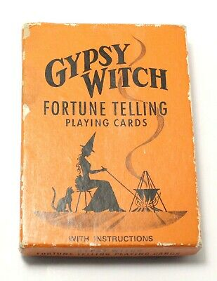 Gypsy Witch Fortune Telling Playing Cards Vintage Game Tarot Deck Complete Set
