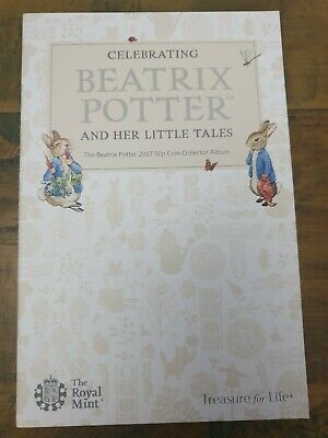 2017 Royal Mint Beatrix Potter 50p Fifty Pence Coin Collector Album Folder
