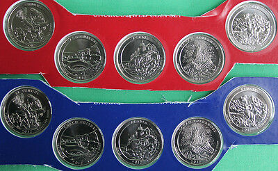 2012 P and D America the Beautiful Quarters 10 BU Coins US Mint ATB PARKS 25c