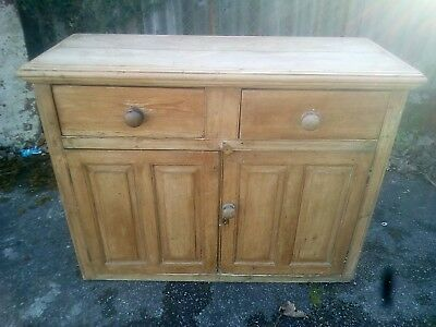 Fantastic Antique Pine Sideboard / Dresser with Drawers and Cupboards