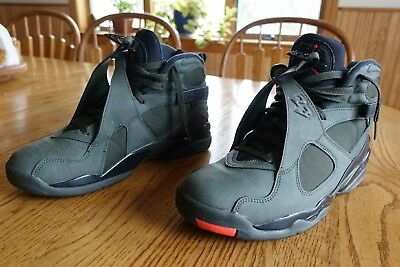 00143858768a Air Jordan 8 Retro Take Flight Sz 9.5 Sequoia Olive Undefeated 305381-305