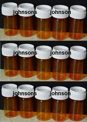 Lot of 15 Empty RX Pill Bottles Crafts Storage Containers crafts bead lid PM-10