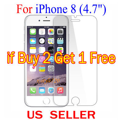 """1x Clear LCD Screen Protector Guard Cover Shield Film For Apple iPhone 8 (4.7"""")"""