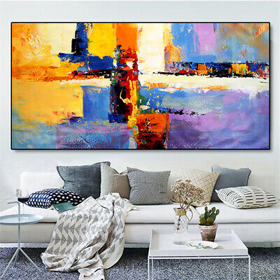 YA178 Home decor 100% Hand-painted oil painting on canvas abstract color art