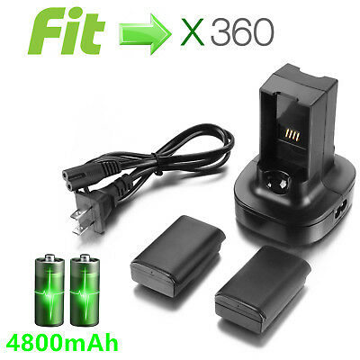 Battery Pack Charger stand for Microsoft Xbox 360 Wireless Controller
