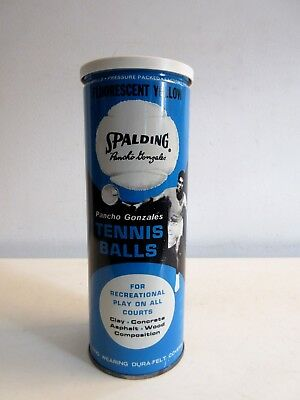 Vintage Spalding Pancho Gonzales Tennis Balls Original Tin Can w/ Signed Balls