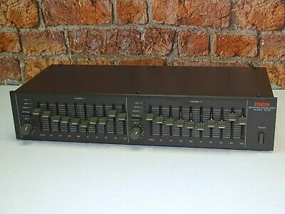 Fostex Model 3030 Twin 10 Band Stereo Graphic Equalizer Equaliser