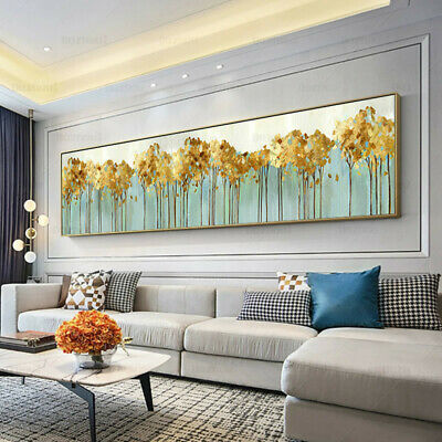 YA179 Home decor 100% Hand-painted oil painting on canvas abstract Forest