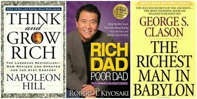 PACK 3x1 : Rich Dad Poor Dad + The Richest Man in Babylon + Think and grow rich