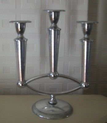 modernist chrome candlestick